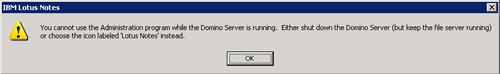 Domino server is running